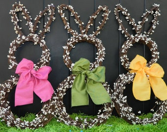 Mini Easter Wreath - Bunny Wreath - Spring Wreath  - Easter Decoration