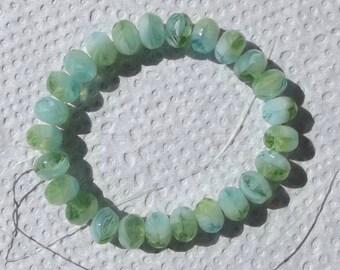 6x4 Faceted Czech Glass Beads
