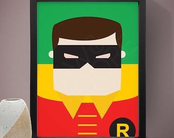 Superhero Robin Poster