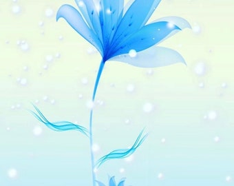 little snow flower by Renee Ortiz illustrations©! art print - home decor - invitations -  greeting cards