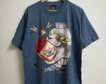 Vintage Aerosmith Nine Lives World Tour Copyright 1997 Aerosmith Under License To Giant Band Shirt
