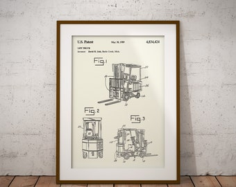 Articulated crawler tractor construction patent art print lift truck patent print forklift poster fork lift truck blueprint construction equipment patent malvernweather Image collections
