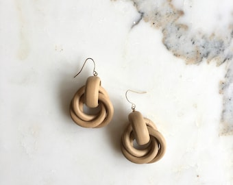 WoodKnot earrings | vintage wood earrings