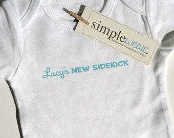 new sidekick baby bodysuit