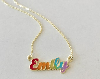 Personalized Name Jewelry - Name Necklace - Baby Girl Name Necklace - Name Charm - Bridesmaid Gift - Baby Shower Gift - Mothers Day Gift