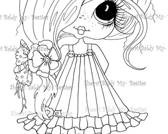 INSTANT DOWNLOAD Digital Digi Stamps Big Eye Big Head Dolls Bestie New Bestie Clever Chole Remix My Besties By Sherri Baldy