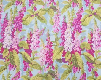 Fox Gloves Spring by Philip Jacobs   By-The-Yard High Quality Quilt Cotton