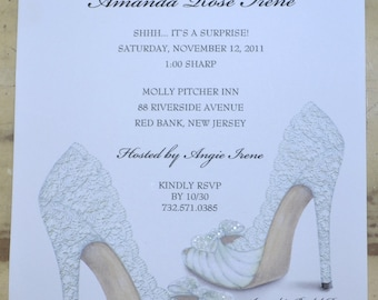 Bridal shower invitations shoe theme bridal shower bridal bridal shower invitations shoe theme bridal shower bridal shower invites personalized filmwisefo