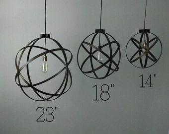 18 inch Modern Spherical Light/ Entryway Light/ Chandelier/ Industrial Home Decor/ Modern Lighting/ Ceiling Mounted Light