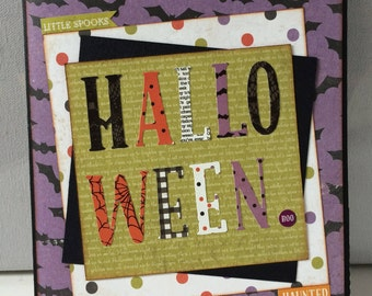 Halloween Minibook, Handmade Scrapbook, Photo Album, Memory Keeper