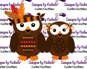 Thanksgiving Owls. Cricut cut file, cutting machine or Silhouette cut file.  Includes svg, png, eps, dxf, and psd files.