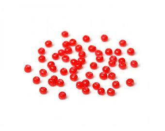 20g of seed beads 2mm color red