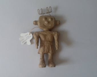 Robot girl paper mache
