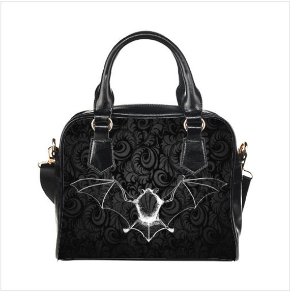 Damask Bat Shoulder strap Handbag