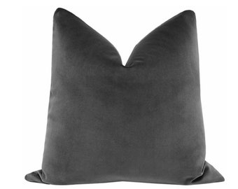 Signature Velvet // Graphite Pillow COVER ONLY