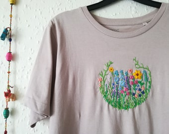 Flower Garden Embroidered T-Shirt