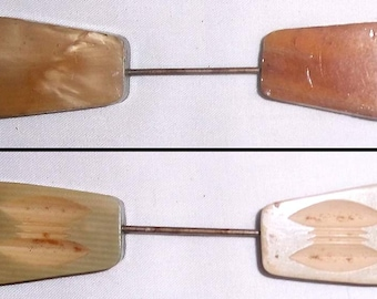 Fabulous 1930's Art Deco Hand Carved Celluloid Jabot or Cravet Stick Pin