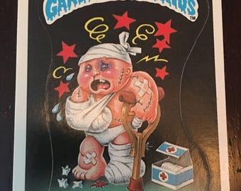 1985 Garbage Pail Kids Stickers #15b Mauled Paul Matte Series 1 OS1 Certificate