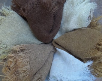 Newborn Photo Prop Burlap Blanket Photography Prop Burlap Layering Mini Burlap Basket Filler Basket Stuffer