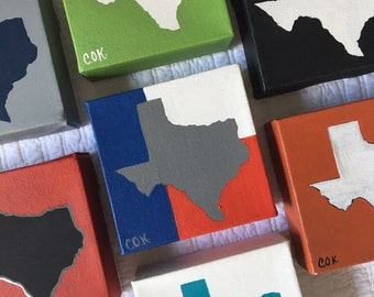 """Painting Texas - 3"""" square"""