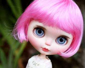 "10-11"" BEAUTIFUL Hot Pink doll WIG for Blythe and Neo Blythe Custom"
