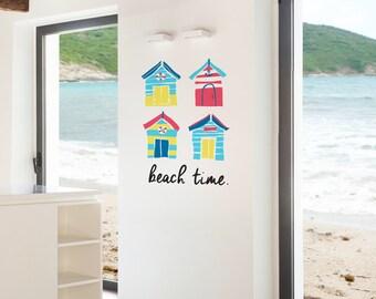 Brighton Beach Huts Removable Wall Sticker