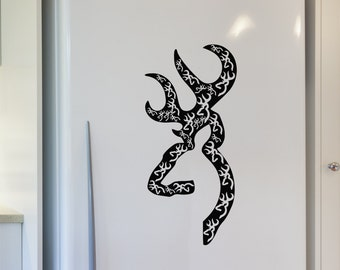 "Browning Buckmark Wall Decal, Sticker 9"" x 19"""