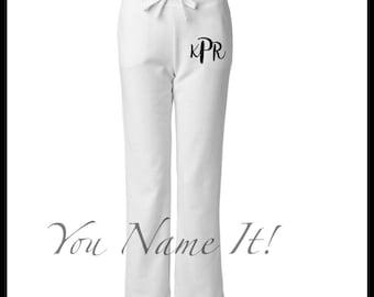 Womens Monogrammed Sweatpants