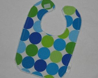 Caribe Disco Dot Fabric and Chenille Bib