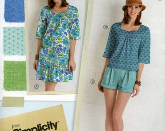 60 Percent OFF (New) Misses/Miss Petite Dress, Top and Shorts Pattern 1879 (Uncut) Original Factory Fold