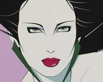Pop Art Patrick Nagel  Limited Edition Serigraph  Lady Commemorative Edition 1988 Silk Screen Productions