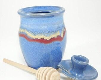 ON SALE Pottery Honey Jar - Honey Pot - Honey Container - Sauce Jar - Pottery Honey Pot - Honeypot - Ceramic Honey Pot - Jam Jar - In Stock