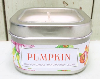 Pumpkin Soy Candle 8 oz. - Green Daffodil - Anne and Siouxsan - C8