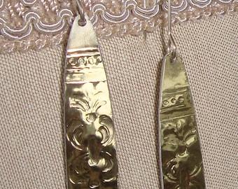 Gold Embossed Aluminum Danglies No.2