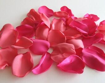 Pink Mix Flower Petals, Bright Pink, Pink Coral, Wedding Rose Petals, Aisle Petals, Flower Girl Petals, Confetti Flower Petals