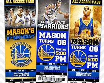 Golden State Warriors Invitation, Stephen Curry Invitation, Basketball Invitation, Warriors Team Invites
