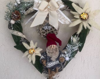 Garland at heart with Alpine stars and gnome charm