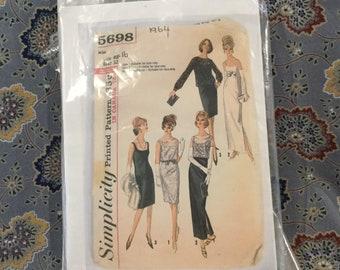 "Simplicity 60s dress pattern size 16 bust 32"""