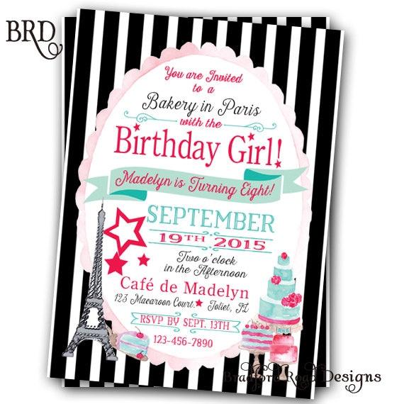 Paris doll birthday invitation doll girl in paris bakery in zoom solutioingenieria Choice Image