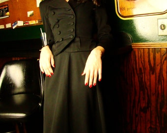 1940s Black Suit, 1940s Suit Women, Womens 1940s Clothing, Double Breasted Suit, 40s Suit, Vintage, Pinup Suit, Rockabilly Suit, Size Small