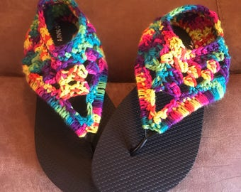 Crochet Gladiator Flip Flops