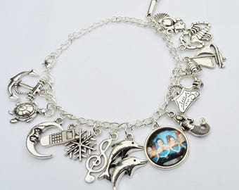 Mako Mermaids Bracelet. Bracelet with charms H2o just add water and Mako Mermaids inspired