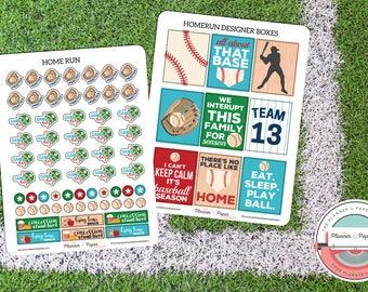 Baseball Planner Sticker Kit