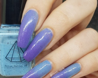 Baby it's warm outside - a blue to purple UV reactive UK handmade indie nail polish