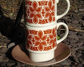 Tam's 'Avon' cup and saucer, Tam's mugs, Tam's cups, 70's teaset, 70's mug, vintage mugs, retro kitchen, vintage kitchen
