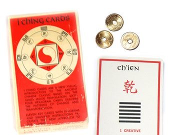 1973 I Ching Cards & Coins Fortune Telling Set. I Ching. I Ching Cards. Chinese Fortune Telling.  Fortune Telling. Cleromancy. Divination