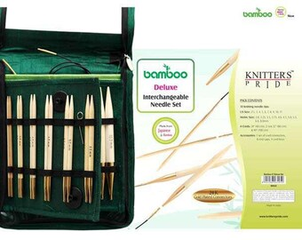 Knitter's Pride - Interchangeable Sets Bamboo Deluxe Set