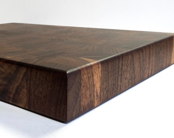 End Grain Cutting Board Black Walnut