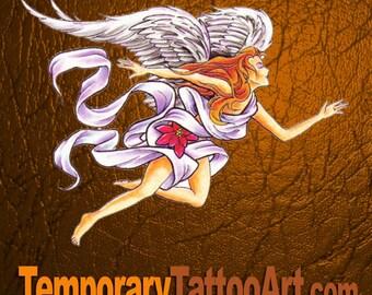 Angel temporary tattoo design - 2x3 inch