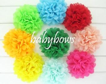 3x Big Flowers Baby Girl Hair Clips